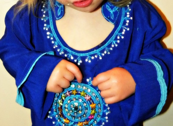 Beautiful beaded toddler dress