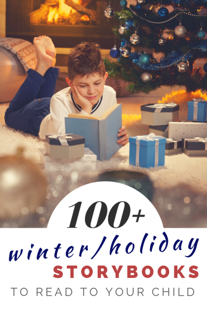 Over 100 winter and holiday themed storybooks to read to your child. WOW!