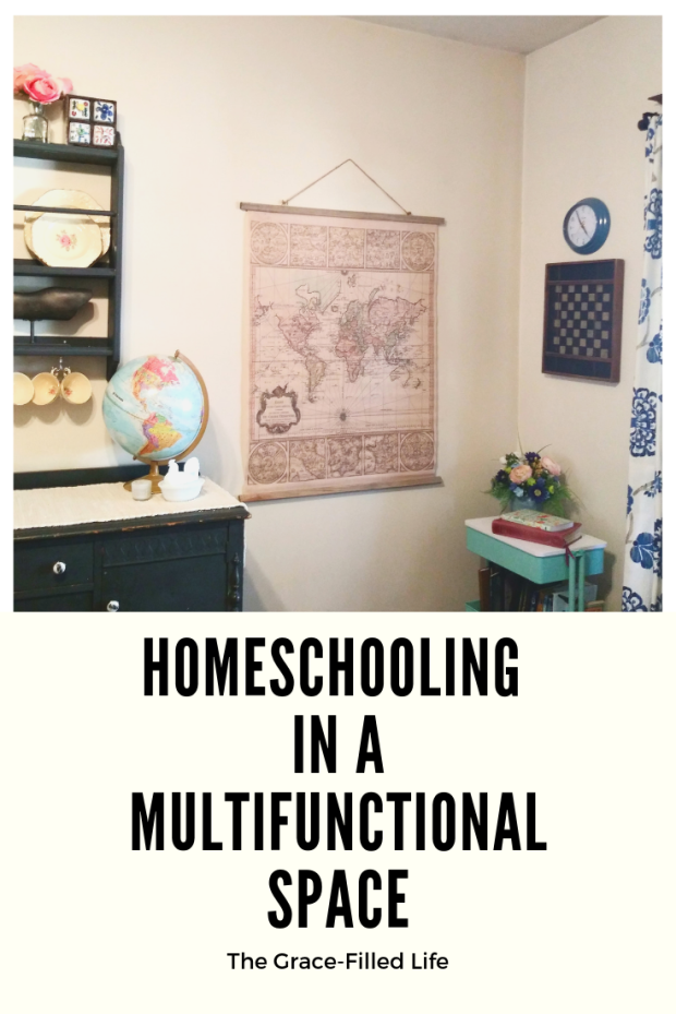 Homeschooling in a Multifunctional Space (A Homeschool Room Tour)